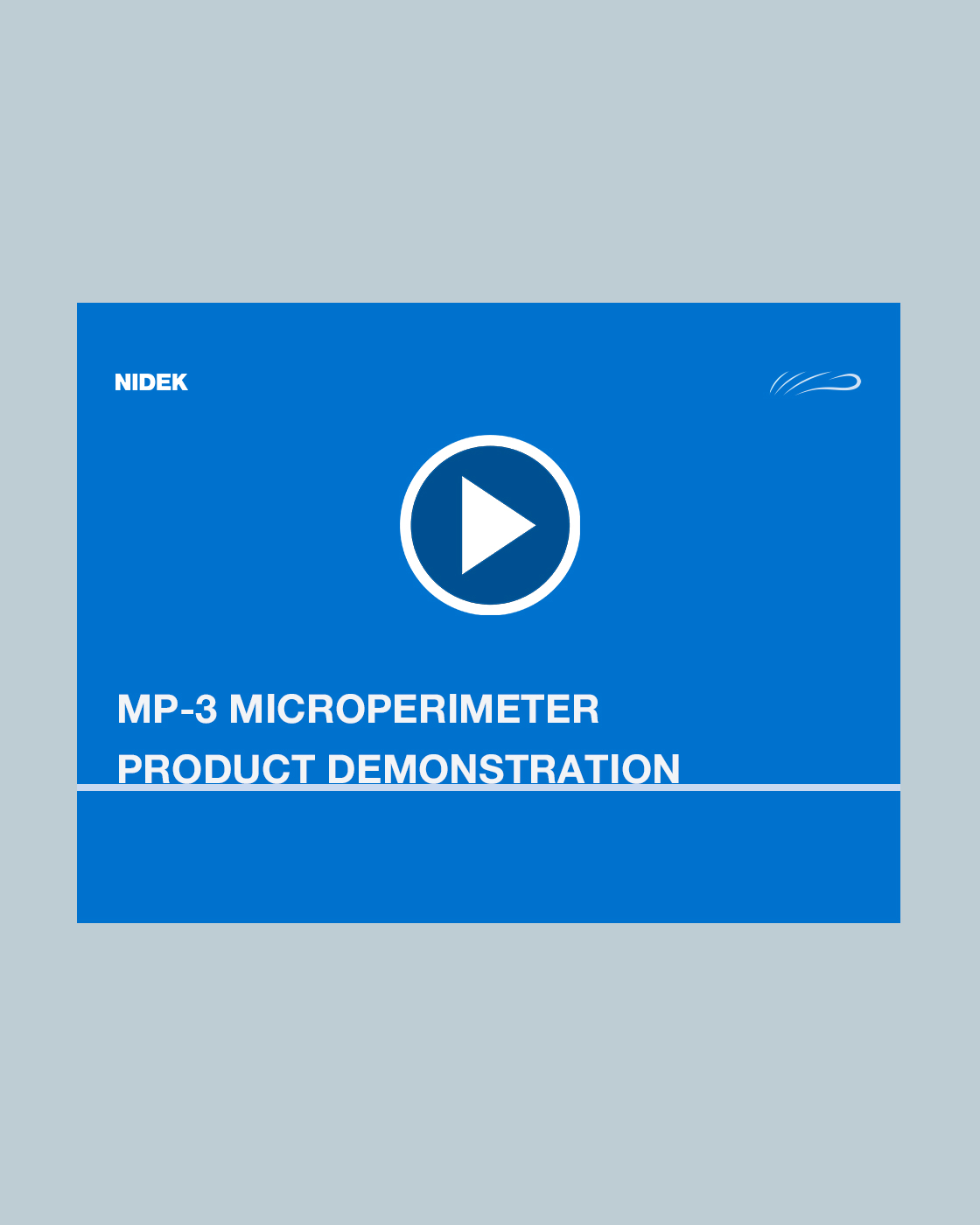 MP-3 Microperimeter Product Demonstration