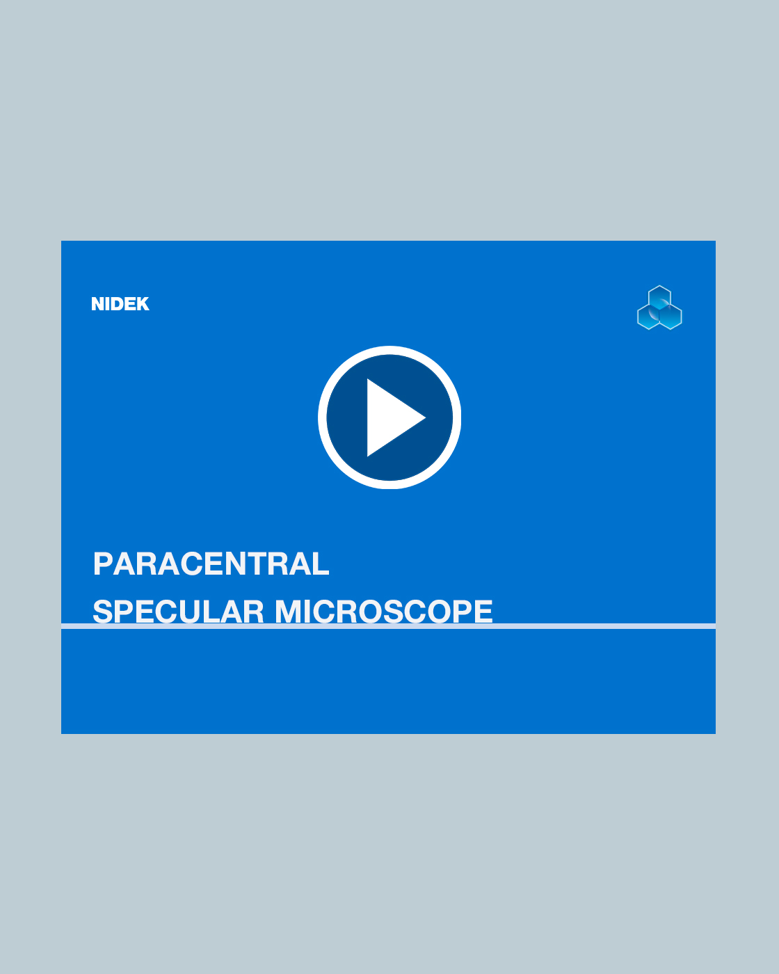 Introducing the CEM-530 Paracentral Specular Microscope